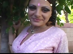 Whore Dressed Up As Indian Gets Her Twat Fucked.