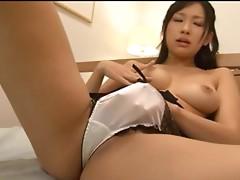 Nana Ogura with her best friend, her vibrator!