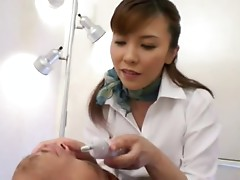 Professional massage turns into fucking with a hot Japanese woman