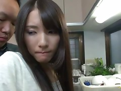 Akari Hoshino the hot housewife sucks big dick