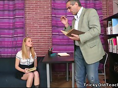 Sexy secretary Oksana gets banged by her mature boss