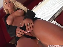 Busty blonde Brittney Skye gets amazingly fucked in the kitchen