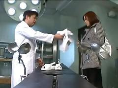 Rin Sakuragi the horny nurse gets fucked by a doctor