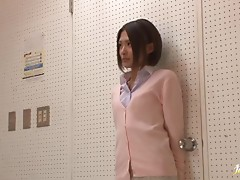 Sexy Japanese teacher Yuuki Natsume sucks her students' hard cocks