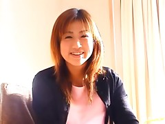 Hiromi Ochiai sucks and gets her hairy pussy fucked in missionary position