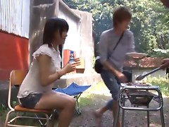 Kyoka Mizusawa sucks her groupmate's dick outdoors