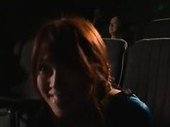 Naughty Riku Yamaguchi having wild sex in the cinema