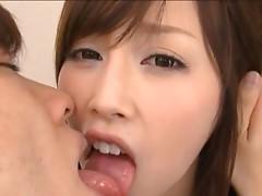 Adorable Rico Yamaguchi having hardcore sex on the sofa