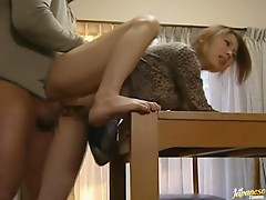 Japanese wife gets hotly fucked in standing position