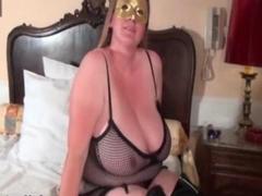 Busty blonde slut goes crazy rubbing her