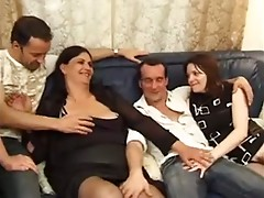 Threesome for Hairy French Mom by TROC
