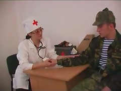 russian nurse and soldier