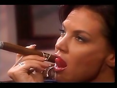 Hot Mature Lady Smokes A Cigar While Recieving Oral