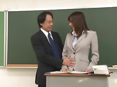 Mirei Yokoyama gets her pussy and tight ass hotly fucked in the classroom