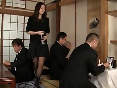 Slutty Aoi Natsumi getting fucked hard by fat guy
