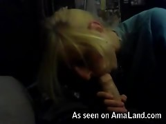 Slim blonde emo babe sucking cock and getting her pussy licked