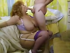 Classic Busty BBW Cougar Sucking and Banging