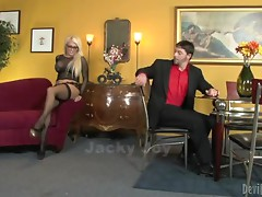Alura Jenson and Jacky Joy two busty blondes getting fucked