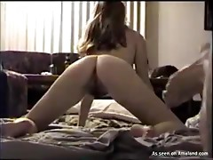 Sexy round ass chick having fun with her boyfriend on the floor