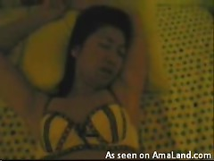 Very noisy homemade video of an asian couple having hot sex