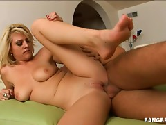 A hot blonde moans loudly during amazing doggy style fuck