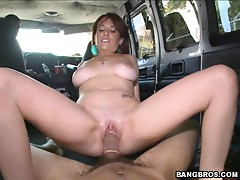 The bangbus double the fun over the hard cock
