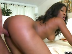 Busty ebony babe Vanella gets fucked by a Mexican cock