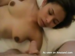 Homemade amateur video of horny asian babe playing with her vibro