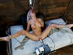 Horny Blonde Whore Getting Fucked in Every Moist Hole