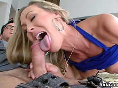 One amazing hot MILF showing experience on cock