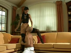 Saucy Brunette Gets her Pussy Fucked.