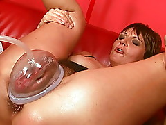 Mature Whore With A Pump On Her Pussy