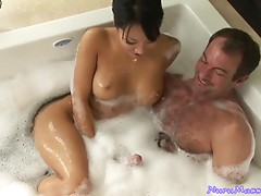 Sexy Masseuse Jerks And Slurps On A Client's Hard Cock