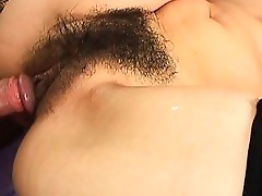 Japanese Hairy Pussy Double Fucked With Creampie.