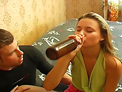 Brunette Biatch Drunk Of Cheap Beer and Nailed Hard