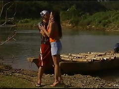 Hardcore Outdoors Sex By the River for Beautiful Tera Bond