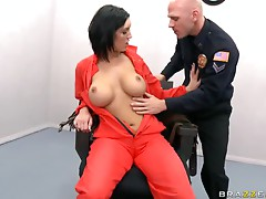 Mature Babe Bribes Cop By Taking His Cock