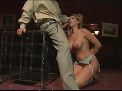 Really Busty Blonde Bounded and Fucked in BDSM Video