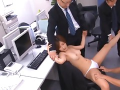 Dazzling Asian Office Lady Sucks Cock and Gets Her Wet Pussy Fucked