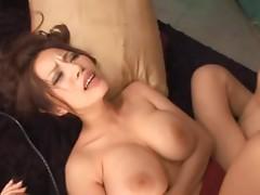Busty Asian MILF Sucking a Big Cock