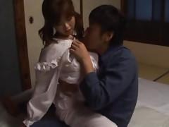 Busty Japanese Babe Titty Fucking and Enjoying Hardcore Sex