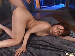 Hot Brunette Yuria Satomi in a hot Threesome