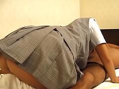 Fumika Uesugi Gives a Hard Cock a Lick