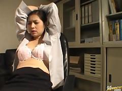Yuko Kazuki Bound And Grabbed In Her Office
