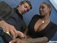 An Ebony with Big Tits and a Big Booty is Much Better than a Blonde slut