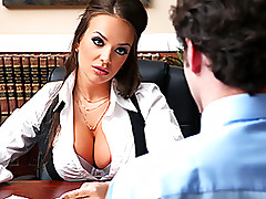 Fucking The Hottest and Bustiest Boss Ever In The Office