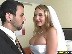 Very Busty Bride Alanah Rae Gets Fucked after the Wedding