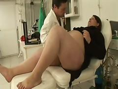Horny Gynecologist Fucking One Of Her Wet Preggo Patients