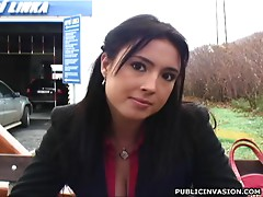 Sexy Brunette Talks About Sex As The Camera Falls In Love With Her Breasts