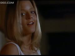 Beautiful Hot Blonde Jodie Foster Wears Sexy Black Stockings